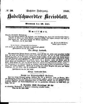 Habelschwerdter Kreisblatt vom 19.07.1848