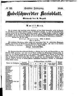 Habelschwerdter Kreisblatt vom 09.08.1848