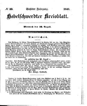 Habelschwerdter Kreisblatt vom 16.08.1848