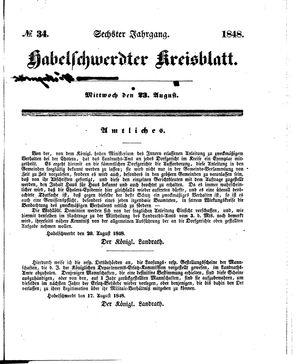 Habelschwerdter Kreisblatt vom 23.08.1848