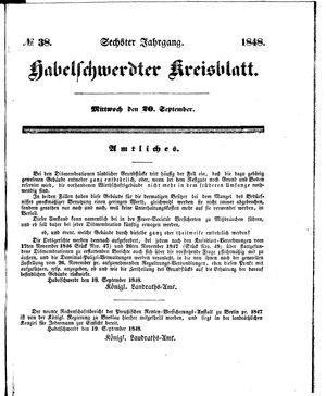 Habelschwerdter Kreisblatt vom 20.09.1848