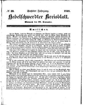 Habelschwerdter Kreisblatt on Sep 27, 1848