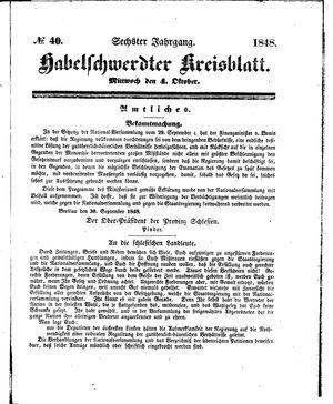 Habelschwerdter Kreisblatt vom 04.10.1848