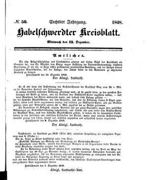 Habelschwerdter Kreisblatt vom 13.12.1848