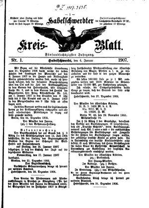 Habelschwerdter Kreisblatt vom 04.01.1907