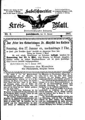 Habelschwerdter Kreisblatt vom 11.01.1907