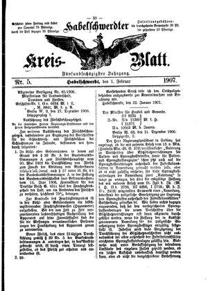 Habelschwerdter Kreisblatt vom 01.02.1907