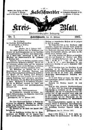 Habelschwerdter Kreisblatt vom 15.02.1907