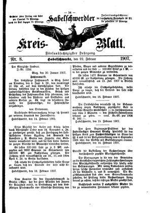 Habelschwerdter Kreisblatt vom 22.02.1907