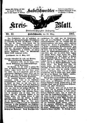 Habelschwerdter Kreisblatt vom 22.03.1907