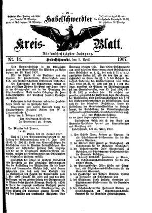 Habelschwerdter Kreisblatt vom 05.04.1907