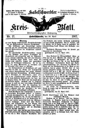 Habelschwerdter Kreisblatt vom 26.04.1907