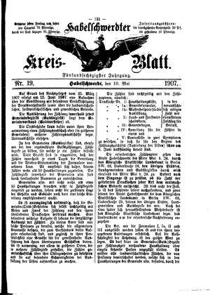 Habelschwerdter Kreisblatt vom 10.05.1907