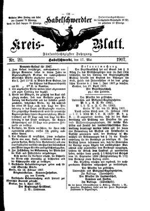 Habelschwerdter Kreisblatt vom 17.05.1907