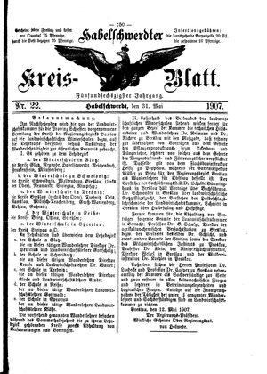 Habelschwerdter Kreisblatt vom 31.05.1907