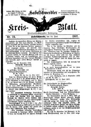 Habelschwerdter Kreisblatt vom 14.06.1907