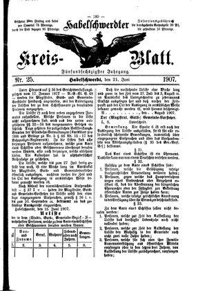 Habelschwerdter Kreisblatt vom 21.06.1907
