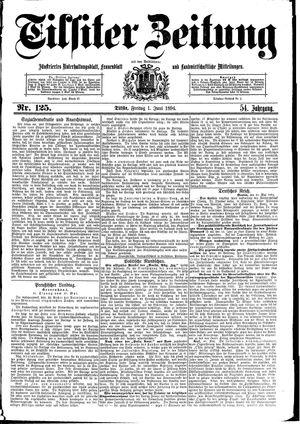 Tilsiter Zeitung vom 01.06.1894