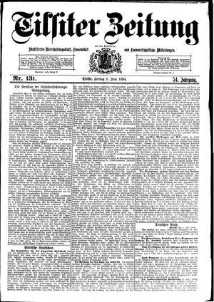 Tilsiter Zeitung vom 08.06.1894