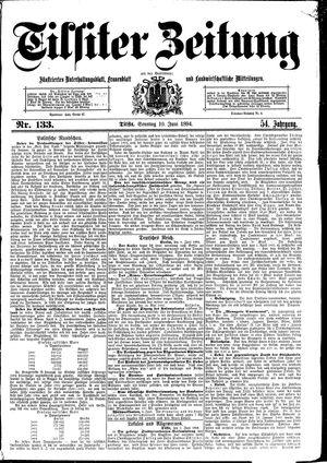 Tilsiter Zeitung vom 10.06.1894