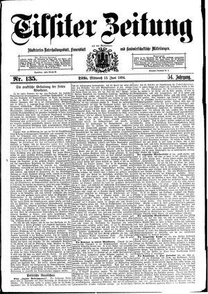 Tilsiter Zeitung vom 13.06.1894