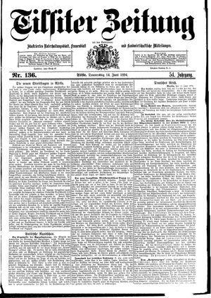 Tilsiter Zeitung vom 14.06.1894