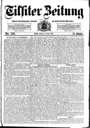 Tilsiter Zeitung vom 15.06.1894