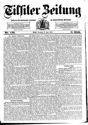 Tilsiter Zeitung vom 19.06.1894