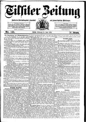 Tilsiter Zeitung vom 20.06.1894