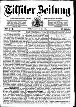 Tilsiter Zeitung vom 21.06.1894