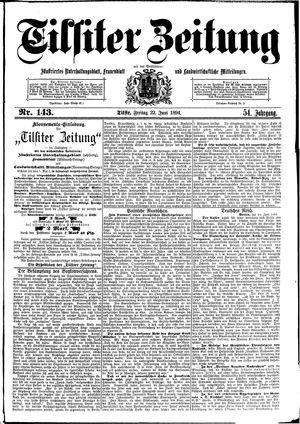 Tilsiter Zeitung vom 22.06.1894