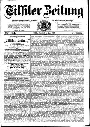 Tilsiter Zeitung vom 23.06.1894