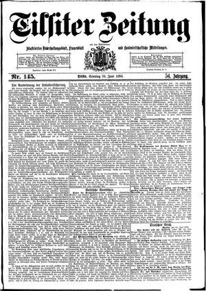 Tilsiter Zeitung vom 24.06.1894