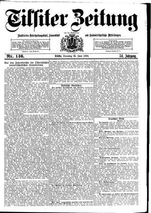 Tilsiter Zeitung vom 26.06.1894