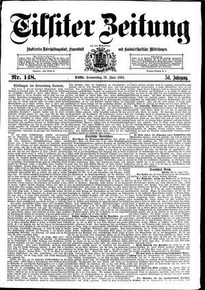 Tilsiter Zeitung vom 28.06.1894