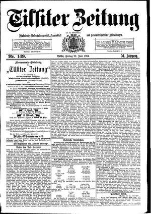 Tilsiter Zeitung vom 29.06.1894