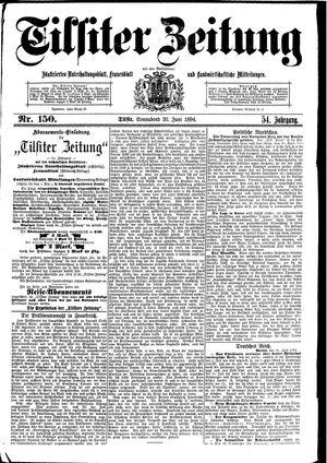 Tilsiter Zeitung vom 30.06.1894