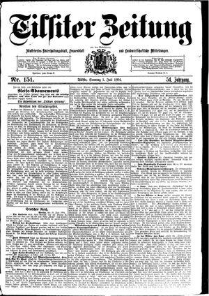 Tilsiter Zeitung vom 01.07.1894