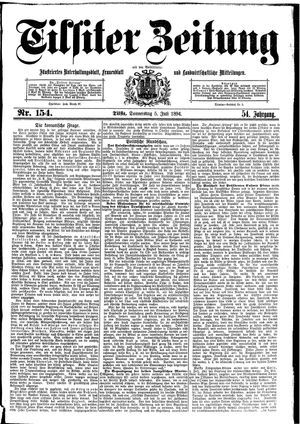 Tilsiter Zeitung vom 05.07.1894