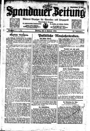 Spandauer Zeitung vom 02.01.1925