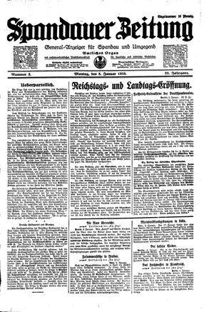 Spandauer Zeitung vom 05.01.1925
