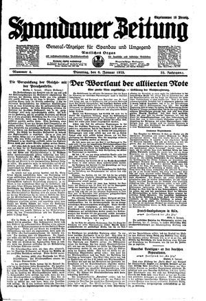 Spandauer Zeitung vom 06.01.1925
