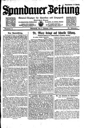 Spandauer Zeitung vom 07.01.1925