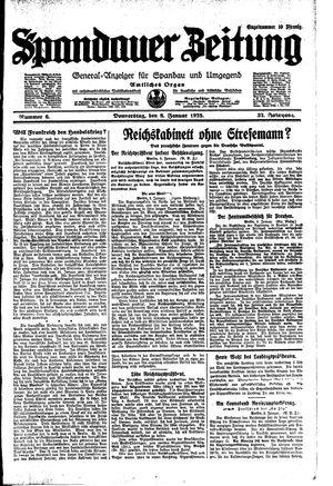 Spandauer Zeitung vom 08.01.1925