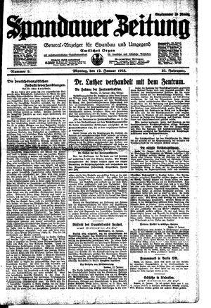 Spandauer Zeitung vom 12.01.1925