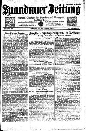 Spandauer Zeitung vom 13.01.1925
