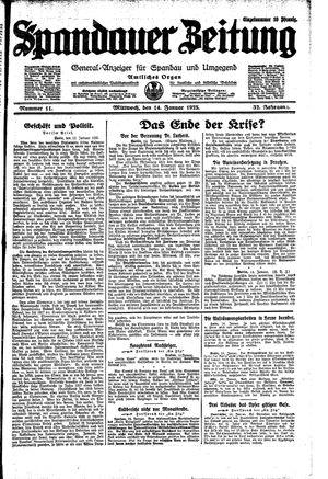 Spandauer Zeitung vom 14.01.1925