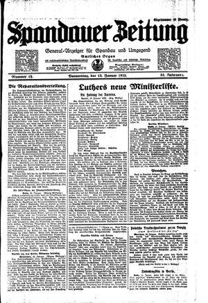 Spandauer Zeitung vom 15.01.1925