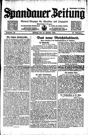 Spandauer Zeitung vom 16.01.1925