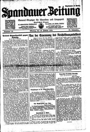 Spandauer Zeitung vom 19.01.1925